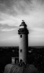 A light in the dark (Rosenthal Photography) Tags: washis50 indien mahabalipuram ff135 chennai rodinal12520°c11min bnw 20180601 schwarzweiss bw 35mm olympus35rd analog asa50 india lighthouse light may spring summer sun landscape architecture olympus olympus35 35rd fzuiko zuiko 40mm f17 washi washis rodinal 125 epson v800