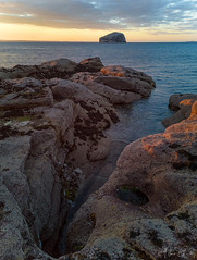 Bass Rock from Seacliff Beach (MilesGrayPhotography (AnimalsBeforeHumans)) Tags: bassrock britain beach northberwick eastlothian seacliffbeach dusk europe evening firthofforth glow golden goldenhour historic iconic landscape landscapephotography leica outdoors old ocean photography photo huawei huaweip20pro mobilephone phone phonephotography cameraphone rocks scotland scenic sky skyline sunset sunlight sunshine scottish summer scottishlandscapephotography sea seascape town twilight uk unitedkingdom village volcanic waterscape wide water
