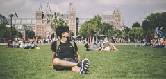 Chilling in the park (kha.p.nguyen1007) Tags: amsterdam rijkmuseum park people tree grass europe netherlands