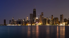 purple rays (momozart) Tags: chicago chicity momozart urban night nights nightphotography nighttime nightscape nightsky skyline sky cityscape city windycity architecture architectural lights sea lake water reflection highrise buildings building town chitown skyscraper skylines