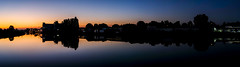 Early morning panorama (Wouter de Bruijn) Tags: fujifilm xt2 fujinonxf35mmf14r sunrise sun dawn morning light dark night glow water reflection reflections skyline silhouette orange blue purple middelburg walcheren zeeland nederland netherlands holland dutch outdoor kanaaldoorwalcheren