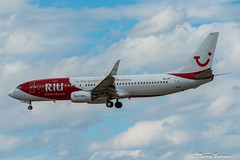 """[ORY] TUI Fly Belgium """"RIU Hotels & Resorts Livery"""" Boeing 737-8K5 _  OO-JPT (thibou1) Tags: thierrybourgain ory lfpo orly spotting aircraft airplane nikon d810 tamron sigma riuhotelsresortslivery tuiflybelgium boeing boeing737 b737 b737800 b738 b7378k5 landing oojpt"""