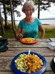 Day 1 - Campsite Dinner (Bobcatnorth) Tags: princeedwardisland canada summer 2018 pei cycling bicycle touring bicycletouring camping sightseeing