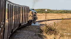 2 (JOHN BRACE) Tags: romney hythe dymchurch loco number 2 built 1926 by davey paxman co colchester named northern chief seen leaving dungeness station