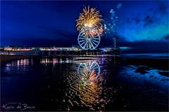 Fireworks Festival! (karindebruin) Tags: denhaag nederland scheveningen thenetherlands zuidholland beach fireworks laagwater lowtide pier reuzenrad strand vuurwerk ferriswheel