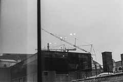 000024 (Olga. S) Tags: 35mmfilm pentax spotomatic kentmere100 monochrome blackandwhite landscape urban city rooftop