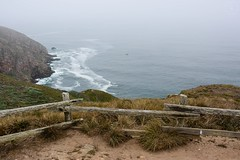 Point Reyes National Seashore (LauraJSwindle) Tags: ca california nikond7100 placestovisit pacificocean ocean cliff waves fence waterscapes pointreyesnationalseashore pointreyes wantaghfairfield nyca usa