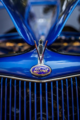 Ford V8 Hood Ornament (Jens Lambert Photography) Tags: antique ardmore automotive blue bokeh butterfly car ford grill gullwing hood insect ornament scissor show v8 vehicle