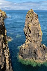 Sea stack on the east coast of the Hunish (Mark at Magdalen) Tags: landscape habitat seacliff skye scotland geographygeology location europe marine britishisles aird unitedkingdom gb