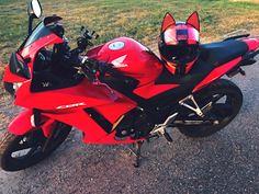 Red Cat Ears AGV Hel (BikerKarl2018) Tags: red cat ears agv hel badass motorcycle helmet store biker stuff motorcycles