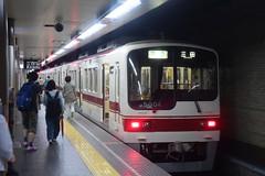 kobe103 (tanayan) Tags: train railway hyogo japan nikon v3 kobe 神戸電鉄 兵庫 日本 神戸 shintetsu shinkaichi 新開地 5000 rapid transit station
