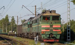 2ТЭ116-1054, станция Павловск, Санкт-Петербург