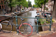 Amsterdam's Primary Modes (eScapes Photo) Tags: europe holland netherlands amsterdam canals bikes