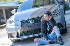 DSC_5283 (Robin Huang 35) Tags: 方唯真 chubby 修車廠 車 car lexus is200t 人像 portrait lady girl nikon d850