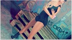 dc183 black dress cap ps (Lamoni Carissa (InWorld)) Tags: 7deadlyskins aqua oak tone designercircle event 183 sas zoe dress heels hud socks sexy truth hair reve oscura poses backdropcity