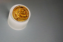 (annemariegrudem) Tags: gold coin ancient roman paris france notre dame