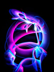 Namaste.. The light within me bows to the light within you (sue.san) Tags: paintingwithlight abstract longexposure lightpainting colors
