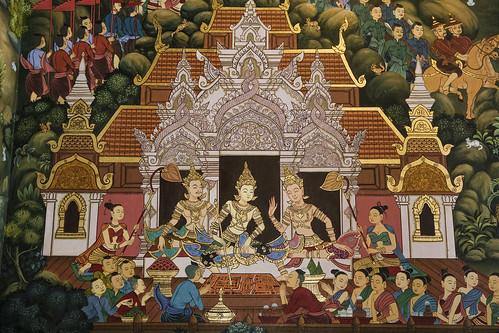 Wat Chedi Man - Temple Art, Chiang Mai
