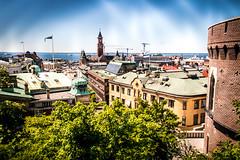 Streets of Helsingborg (Maria Eklind) Tags: view helsingborg skåne terrasstrapporna sweden water vatten city båtar ocean streetsofhelsingborg kärnan vy skånelän sverige se