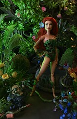 Toxicodendron Radicans (MaxxieJames) Tags: poison ivy pamela isley dc dcu batman gotham city sirens plants red barbie mattel made move doll collector diorama wwe superstar eva marie