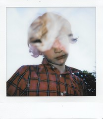 Issac with blackberry bag (John S. Photos) Tags: square instax sq6