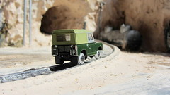 1:76 Scale Diecast Model Land Rover Series II SWB Canvas/Rails Oxford Commercials Rail Track 00 Gauge Railways By Oxford Diecast Limited Swansea Wales United Kingdom 2017 : Diorama Futuristic Quarry - 5 Of 24 (Kelvin64) Tags: 176 scale diecast model land rover series ii swb canvasrails oxford commercials rail track 00 gauge railways by limited swansea wales united kingdom 2017 diorama futuristic quarry