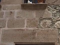 P6120337 (simonrwilkinson) Tags: santapau baixagarrotxavolcanicnaturereserve girona catalonia spain lintel inscribed medieval
