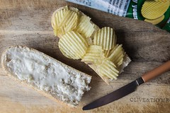 Traditional Irish Crisp Sandwich (pepsamu) Tags: ireland irish tradition crisps crisp sandwich snack bocadillo patatas chips patatasfritas bocadillodepatatas butter mayonesa mahonesa bodegón food comida alimento madera wood timber knife cuchillo pan bread canon canonistas 60d iluminación light luz lighting stilllife