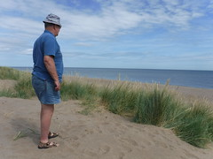 On Huttoft Beach (pj's memories) Tags: lincolnshire huttoft seaside sea sand sanddunes shorts horizon