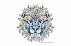 Großes Mandala Bügelbild LÖWE, Patch zum aufbügeln (patchmonkeys) Tags: bügelbild applikation aufbügler print druck katze design kätzchen transfer mandala löwe bügelprint kater
