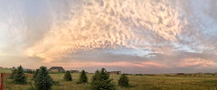 Sunset Cloudscape (northern_nights) Tags: sunset cloudscape altocumulus panorama pano cheyenne wyoming