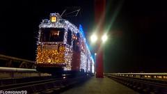 Fényvillamos fotómegállás (floriann99) Tags: fényvillamos fotómegállás ganz uv 5 3 2 3888 nosztalgia rákóczi híd lágymányosi night lights tram bridge old