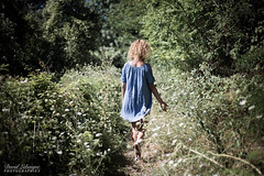 Malika (DavidLabasque) Tags: modèle model modeling girl fille femme woman teen female robe dress blue vert green nature promenade ballade exterior extérieur outdoor shooting photo shoot canon eos 6d 50mm 2018 france french française parc park campagne forêt forest wood plantes plants