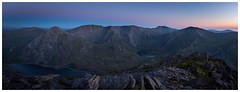 Glyderau (Ollie Pocock) Tags: landscape mountainscape light sunset bluehour northwales wales mountain hills tryfan glyderau snowdonia mountains