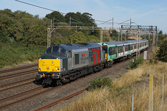 37884 11-08-18 (IanL2) Tags: railoperationsgroup rog class37 37884 cepheus englishelectric unitdrag wcml bedfordshire trains railways