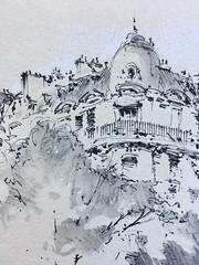 Paris (alexhillkurtzart) Tags: watercolor inkandwash fountainpen urbansketch usk paris