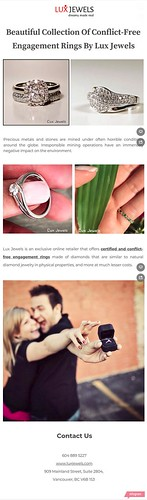 Beautiful Collection Of Conflict-Free Engagement Rings By Lux Jewels