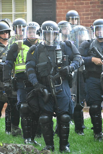 Police in riot gear, From FlickrPhotos