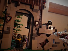 Bandit Hideout (jgg3210) Tags: lego castle classiccastle knights kingdomofwillowstone stillmoss peasants bandits forest river fortress kings road pathways landscaping trees moc minifigures animals