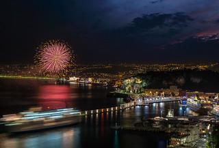 Nice fireworks over the port