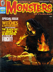 Famous Monsters of Filmland #67 (1970), cover by Vic Prezio (gameraboy) Tags: vintage famousmonsters cover magazine magazinecover famousmonstersoffilmland 67 1970 vicprezio 1970s painting art illustration woman boobs lingerie bdsm