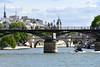 La Seine et le Pont des Arts (Pascal_t_ih) Tags: france paris pontdesarts sun city soleil seine