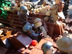 The Battle of Soissons (1918) (alex_bricks) Tags: great war wwi world one lego bbtb ft17 french american british german tank no mans land