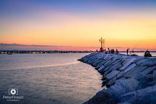 Twilight in Rimini, Italy