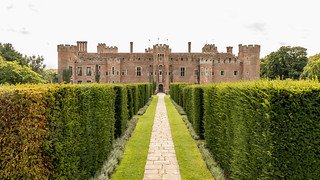 Herstmonceux Castle from the garden.
