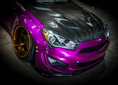 PURPLE (Dave GRR) Tags: hyundai genesis fitted toronto 2018 purple supercar sportscar widebody bodykit carbon wrap spoiler splitter diffuser hood olympus