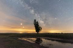 blood moon and mars (talabantsson) Tags: mars moon milky way via lactea luna marte red blood eclipse lunar