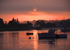 And then there was light (Patricia McAtee - Photos of Maine) Tags: jonescreek scarboroughmaine ocean fishing sunrise seascape morning boating