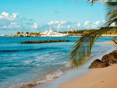 Barbados (kazzawazzaa) Tags: barbados ship cruise boat sky beach palm sea rocks sun tropical carribean waves tree liner dock port clouds sand tide shore coast