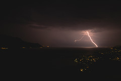 thunder_2 (a.liden01) Tags: night scape landscape switzerland montreux moon sky wind clouds lights water reflecting canon black white long exposure riviera swiss paysage suisse lune noir blanc reflet 5d mark 3 iii longue exposition 30 secondes seconds mountain sea dusk boat thunder thunderstorm